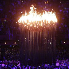 Olympic Cauldron 2012 represents a 'coming together in peace'